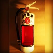 JIM BEAM Fire Extinguisher ALCOHOL BOTTLE DIsplay Case - MAN CAVE GIFTS