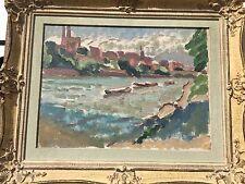 Paysage du rhin du peintre Suisse NUMA DONZE
