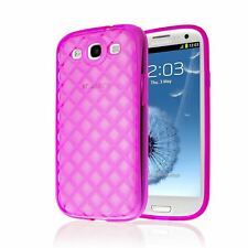 DIAMOND RHOMB TPU GEL TRANSPARENT SOFT CASE COVER FOR SAMSUNG GALAXY S3 III