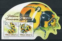 Pitcairn Islands 2017 CTO Transverse Ladybird 2v M/S Ladybirds Beetles Stamps
