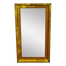 Vintage to Antique Gold Gilt Gesso Framed Wall Mirror 32 x 18
