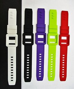 Lot of 5 Silicone Watch Band Wrist Strap iPod Nano 6 White/Black/Purpl/Green/Red