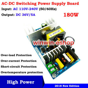 AC-DC Converter 110V 220V 230V to DC 36V 5A Isolated Switching Power Transformer