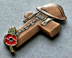 2021 Brand New Beautiful Remembrance Badge ''I Will Remember'' Poppy Day