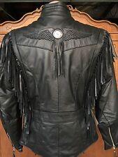 Harley Davidson Fringed Leather jacket MIRAGE 98117-96VW Women's Sz S Small RARE