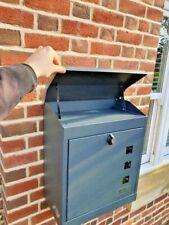 LARGE SECURE PARCEL/ LETTER BOX- WEATHERPROOF LOCKABLE STYLISH PARCELBOX - WOW