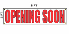 OPENING SOON Banner Sign 2x8 for Business Shop Building Store Front