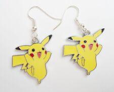Cute pikachu Yellow anime cartoon charms kawaii pokemon jewelry enamel earrings