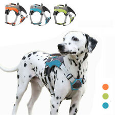BIG Dog Harness Adjustable Nylon No Pull Vest Pet Reflcetive Leash Medium Large