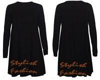 A17 Womens Green Red Tartan Check Print Long Sleeve Swing Skater Dress size8-26