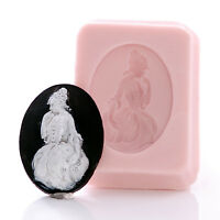 Victorian Style Cameo Silicone Mold Food Safe or Craft Flexible Mould (535)