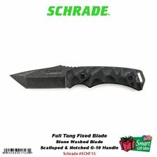 Schrade Full Tang Tanto Fixed Blade Knife, G-10 Handle, Kydex Sheath #SCHF15