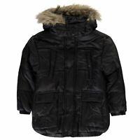 Firetrap Luxe Bubble Puffer Boys Jacket Coat Top Full Length Sleeve Hooded Zip