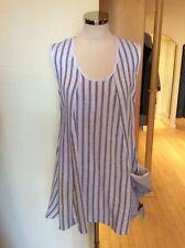 Eden Rock Tunic Top Size XS BNWT Blue White Stripe Linen RRP £104 NOW £42