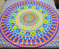 Cotton Floral Mandala Wall Hanging Ethnic Hippie Home Decor Bohemian Bed Cover