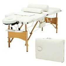 """Folding Massage Table 84"""" Professional Massage Bed With Carrying Bag & White 3W"""