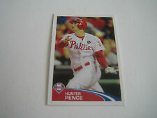 2012 TOPPS BASEBALL HUNTER PENCE STICKER #186***PHILADELPHIA PHILLIES***