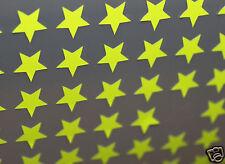 90 Etoiles FLUO JAUNE Thermocollantes Flex, Patch,1 cm fluorescent yellow stars