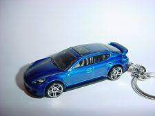 NEW 3D BLUE PORSCHE  PANAMERA TURBO CUSTOM KEYCHAIN keyring key race fast