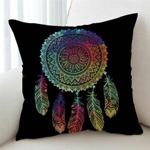 Cushion Cover Colorful  Pillow Case Bohemian  Throw Cover 2 Sizes Pillow Covers