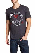 ☀️Auth NWT True Religion Skull logo crew neck graphic tee t-shirt Black/grey M