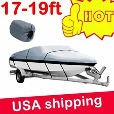 17 18 19 ft Trailerable Fishing Ski Bass Boat Cover Waterproof 95'' Beam gray EV