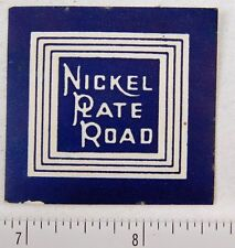 Vintage Nickel Plate Road Railroad Poster Stamp Luggage Label P312