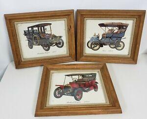 VINTAGE MID CENTURY Turner Wall Accessory 3 automotive Framed prints  Stoddard+