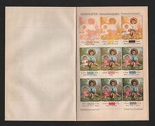 Chromo-Lithografie 1902: LITHOGRAFIE. Chromolithographie Farben-Stein-Druck
