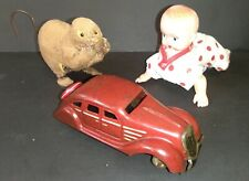 Vintage Occupied Prewar Japan Tin and Celluloid Wind Up Toys