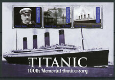 Sierra Leone 2012 MNH RMS Titanic 100th Memorial 3v M/S I Ships Boats Stamps