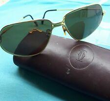 50b61d7cdd Cartier Panthere Gafas De Sol Vintage Hecho En Francia Raro Occhiali  56-14-140