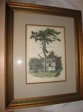 Vintage Paul Scarborough Signed Artist Proof Lithograph John Chadds House Framed