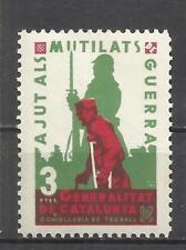 C6-SPAIN CIVIL WAR ESPAÑA GUERRA CIVIL AJUTS MUTILATS** LUXE.CATALUNYA.3 PESET90