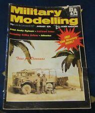 MILITARY MODELLING JANUARY 1976 - BRITISH CAVALRY REGIMENTS/ARAB/ISRAELI ARMOUR