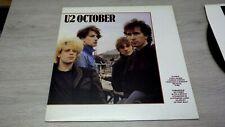 U2, October, Vinyl LP, UK TOWN HOUSE pressing, A3U / B2U  NM/NM  mint
