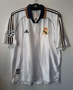 1999-00 Real MADRID Home S/S No.7 RAUL UEFA Toyota Cup Jersey Shirt Trikot 98-99