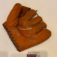 Red Schoendienst Signed Vintage 1940's Game Model Glove With JSA COA