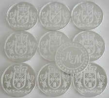 """10 ONE OZ HW MINTING HERALDRY MINT """"ENGLAND"""" FINE .999 SILVER COINS SILVER ROUND"""