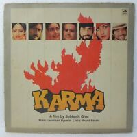 Karma Laxmikant Pyarelal LP Vinyl Record 1986 Bollywood Hindi Soundtrack Indian