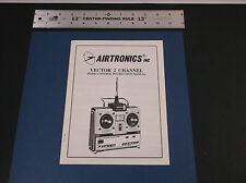 VINTAGE AIRTRONICS VECTOR 2 CHANNEL SYSTEM INSTRUCTIONS MANUAL *VG-COND*