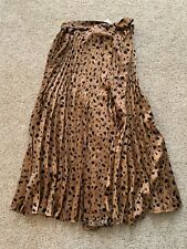 Free People Moon River Skirt Tiger Elastic High Waist Midi Sz Medium M New NWT
