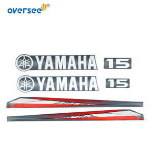 63W-42677 For Yamaha 15 hp Outboard Decals Sticker Kit Marine vinyl Top Cowling
