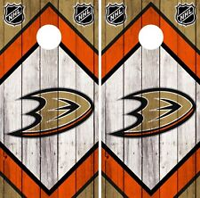 Anaheim Ducks Cornhole Wrap NHL Vintage Game Board Skin Set Vinyl Decal CO174
