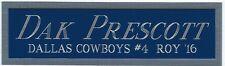DAK PRESCOTT COWBOYS NAMEPLATE AUTOGRAPHED Signed FOOTBALL JERSEY PHOTO HELMET