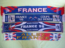 Lot 4 echarpe de supporter Equipe de France Vintage 1998 Footix Football