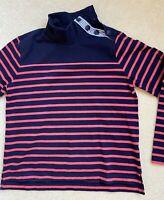 JCREW Women's Henley Nautical Striped Cotton Sweatshirt Size M - NWOT