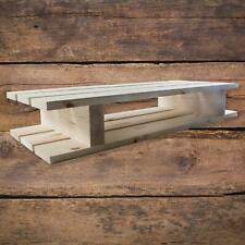 Solid Pine Pallet Shaped Wooden Wall Floating Unfinished Shelf 60 x 23 x 10 cm