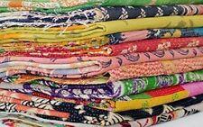 Indian Vintage Kantha Quilt Ralli Gudri Reversible Bedspread Cotton Blanket 25pc