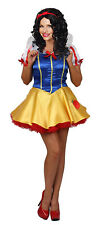 Sexy Satin Snow White Costume Adult Fairytale Ladies Fancy Dress FREE POST (FD)